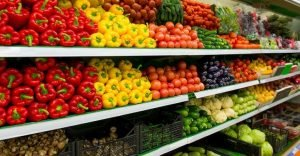 Clean eating grocery store produce
