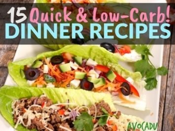 15 Quick, Low-Carb Dinner Recipes