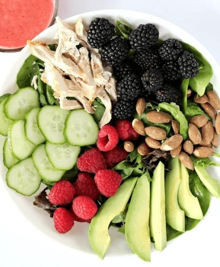 Berry Delicious Avocado Chicken Salad